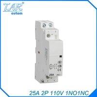 25a 2p 1no 1nc 110v modulus of household ac mini contactorhome contactor hotel restaurant modular contactor