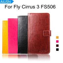 Marque pour Fly Cirrus 3 FS506 housse de protection de luxe peau sac en cuir synthétique polyuréthane portefeuille fente pour carte étui en cuir de haute qualité