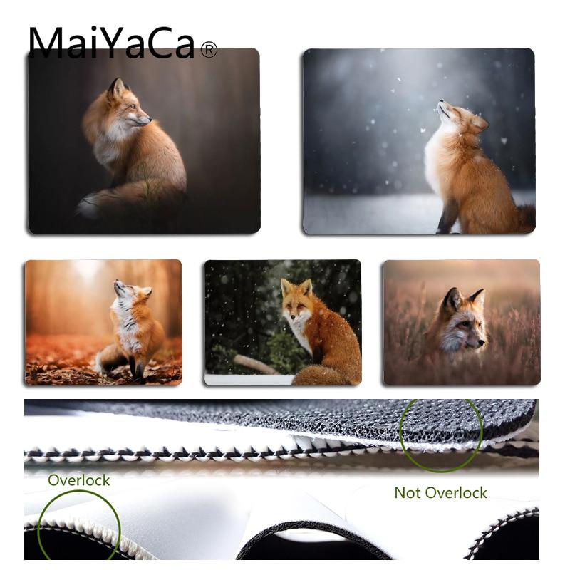 Alfombrillas de ratón MaiYaCa para ordenador portátil antideslizante para PC Fox tamaño 18x22cm 25x29cm
