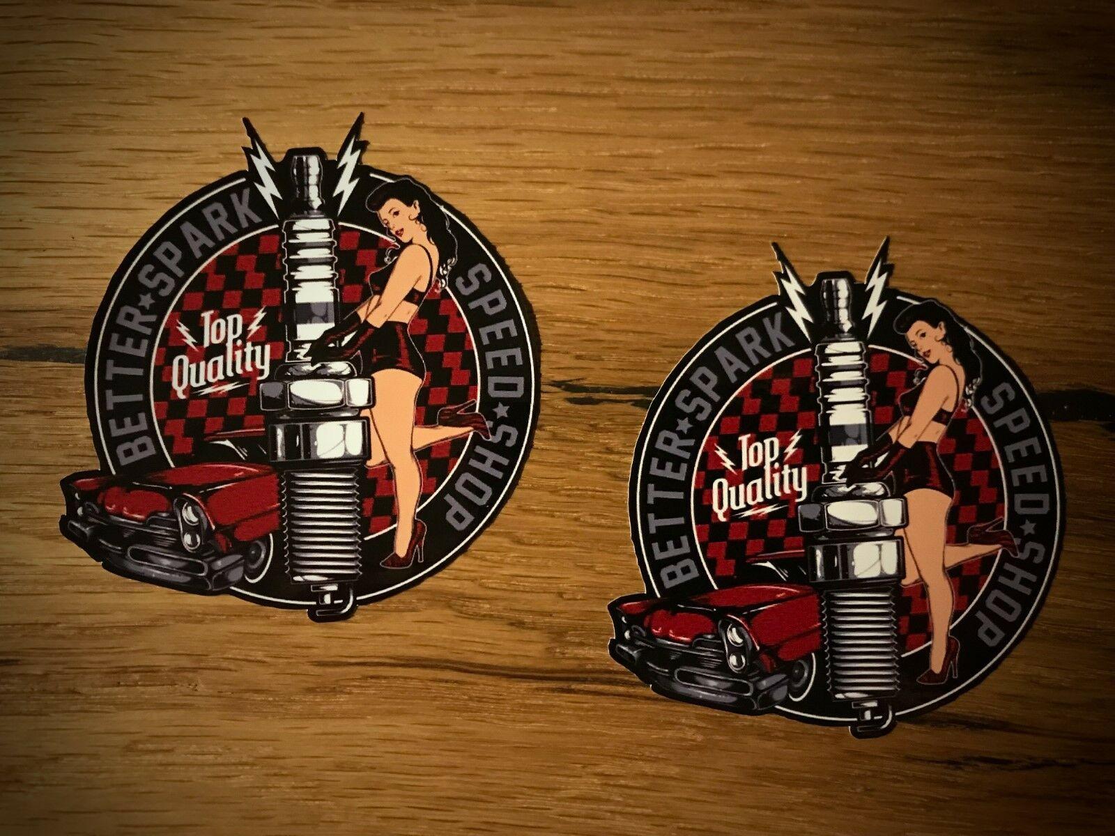 Girl Sticker Pinup 50th 60th 70th Racer Rockabilly Tattoo Hot Rod Rat # 284