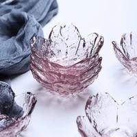 mini glass cherry shape storage tray jewelry food japanese style storage plate organizer sauce dish decor