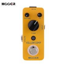 Mooer الأصفر Comp صغيرة صغيرة تأثير ضاغط بصري دواسة الغيتار الكهربائي الملحقات الغيتار الكهربائي الدوار الحقيقي