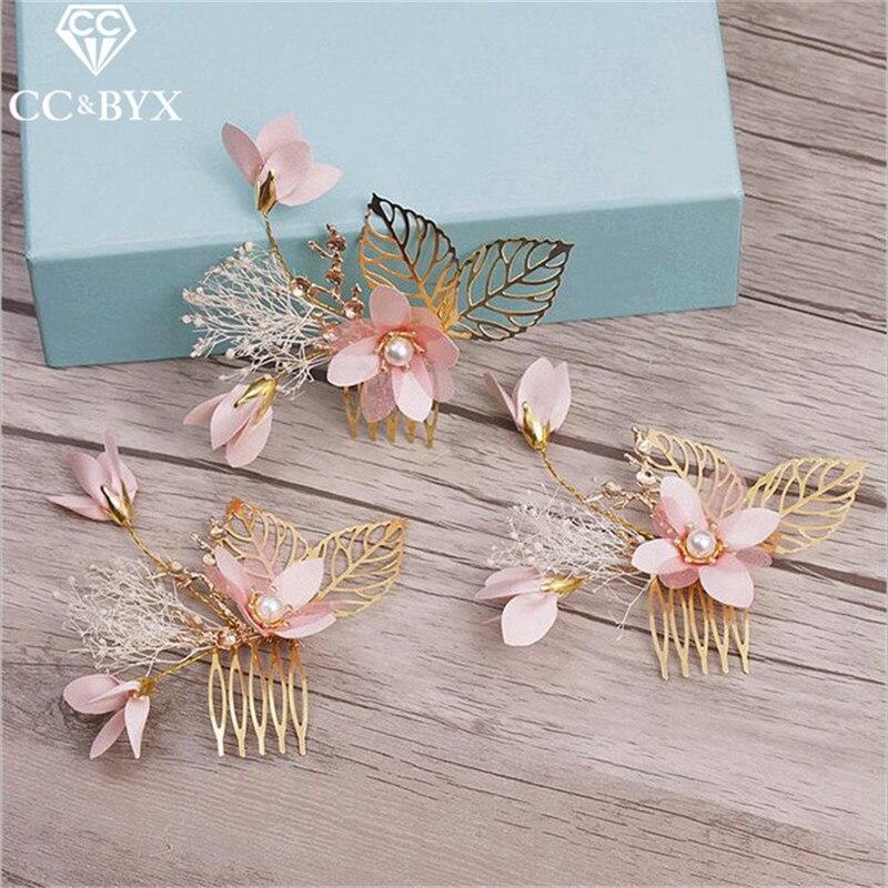 CC Jóias Bela 3 pcs Set Cabelo Flor Artesanal Decorações de Casamento de Noiva Acessórios Para o Cabelo Grampos de Cabelo Pentes Para As Mulheres 8387