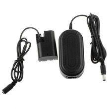 ACK-E6 adaptador de corriente alterna con Cable de alimentación para CANON EOS 7D 6D 5D Mark II III 5D3 + acoplador de CC