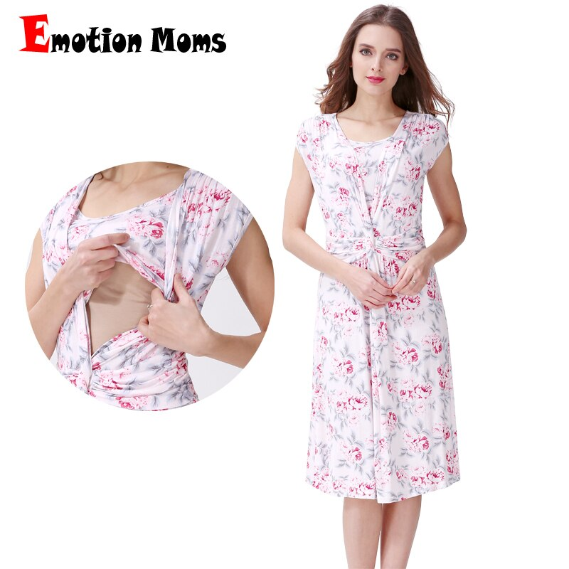 Emotion Moms Floral maternity clothes maternity dresses pregnancy clothes for Pregnant Women dress Breastfeeding Dresses enlarge