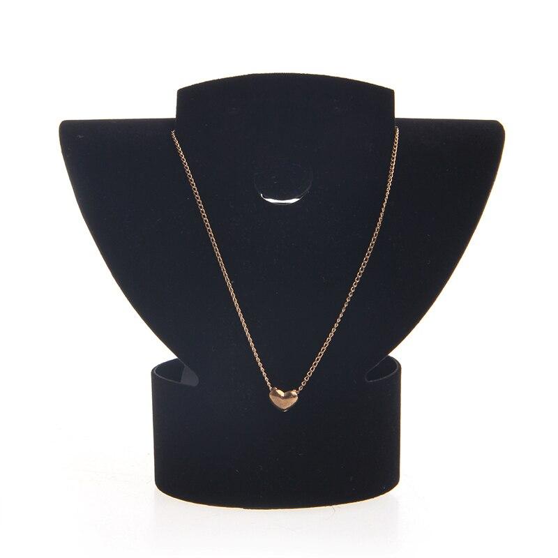 Nueva marca de joyería collar de terciopelo busto pendiente titular pantalla estante caja de exposición negro blanco Estante de presentación de joyería