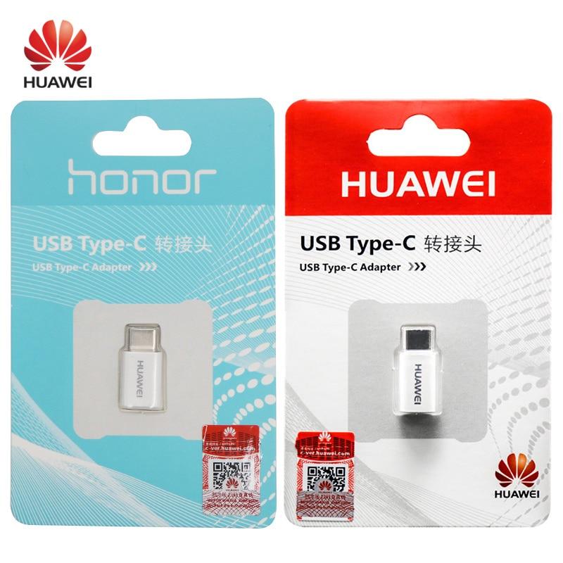 HUAWEI Micro USB a tipo C convertidor tipo-c adaptador de Cable cargador rápido honor 8 9 V8 P9 sobrecargar P10 Plus mate 9 10 Pro nova