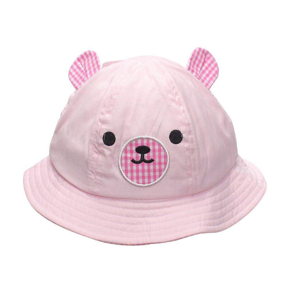 Sombrero de bebé, gorros para niños, sombreros de cubo para niños, gorros de primavera para bebés, gorros de caramelo, lindo Oso de dibujos animados, estilo niños, ropa de verano para bebés