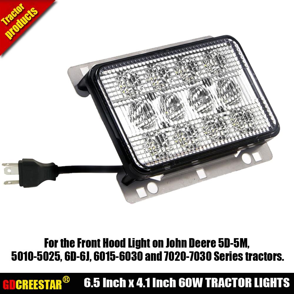 Led Front Hood Light on John Deere 5D-5M 5010-5025 6D-6J 6015-6030 7020-7030 tractors Agricultural LED Lights x1pc free shipping
