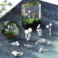 3pcs size mixed 3d mini mushroom jewelry findings pendant accessories diy kawaii epoxy resin cabochon handmade stuff model craft