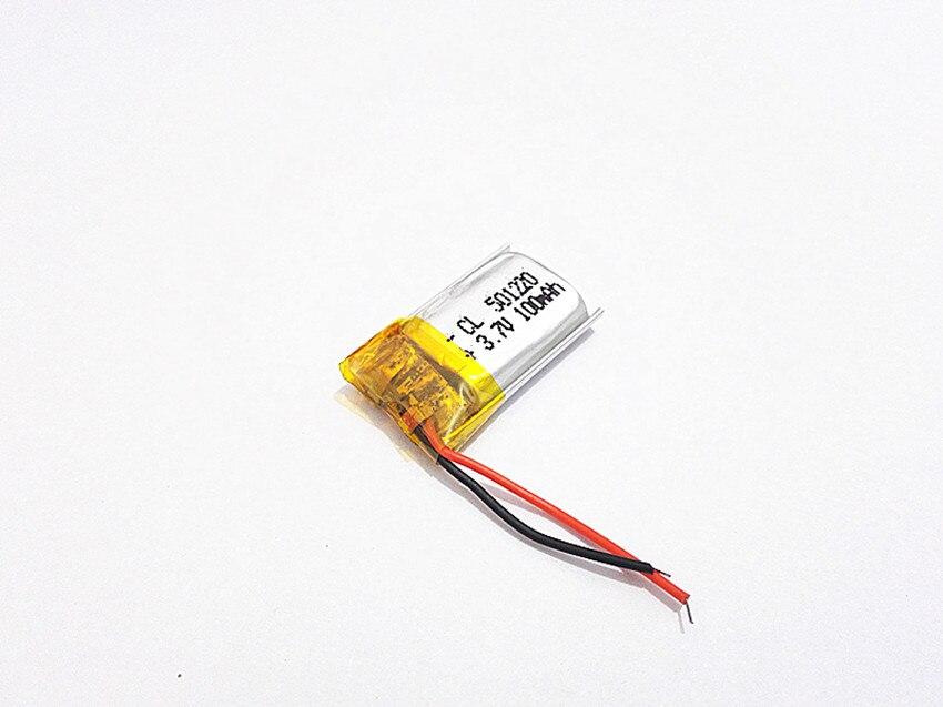 Bateria de Iões de Lítio Recarregável de Polímero de Lítio para Mp3 Células Li-po Mp4 Mp5 Gps Móvel 5pcs 3.7v 100mah 501220