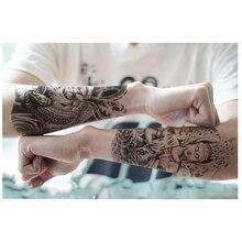 Buddha Tattoo Designs Stickers Designer Body Art Tattoo Men Temporary Tattoo Sticker Fake Tatoo Large Temporary Tattoos3D
