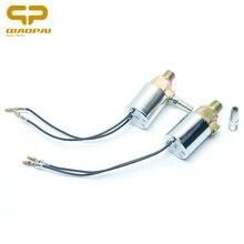 1 stücke Universal Magnetventil Horn 12 V/24 V 1/4 Zoll Auto Truck Air Horn Trompete Chrom Elektrischen magnetventil Claxon Hörner Teile