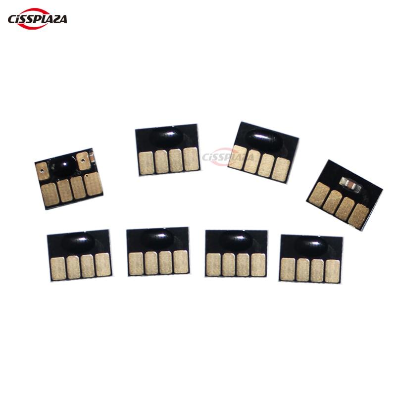 CISSPLAZA 8 Uds de restablecer el chip del cartucho permanente chips compatibles para HP70 Z2100 Z5200 impresora C9448A C9449A C9451A