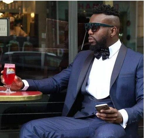 New Arrival One Button Groomsmen Shawl Lapel Groom Tuxedos Men Suits Wedding/Prom Best Man Blazer ( Jacket+Pants+Vest+Tie) A29