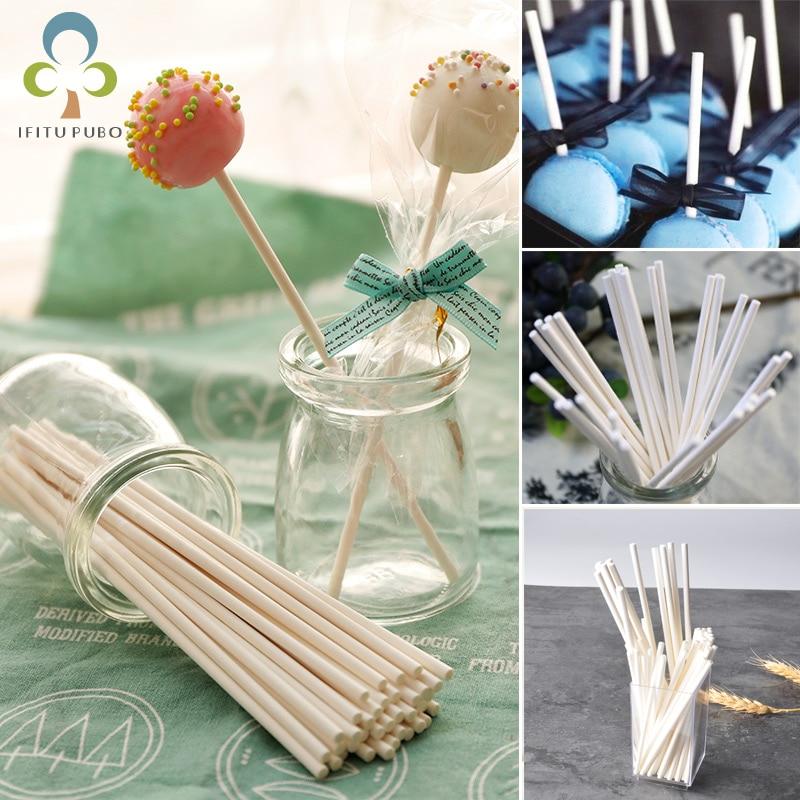 Multiple Sizes Food-Grade Paper Lollipop Stick Cake Pop Sticks For Candy Chocolate Sugar Pole Lollipop Stick Home supplies LYQ