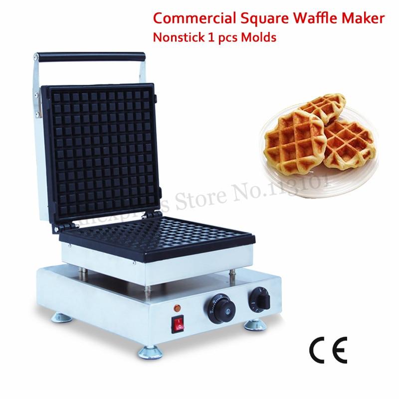 Máquina de gofres eléctrica Bélgica fabricante de pasteles comerciales Liege Waffle Baker 110 V 220 V 1500 W Snack Street Food dispositivo