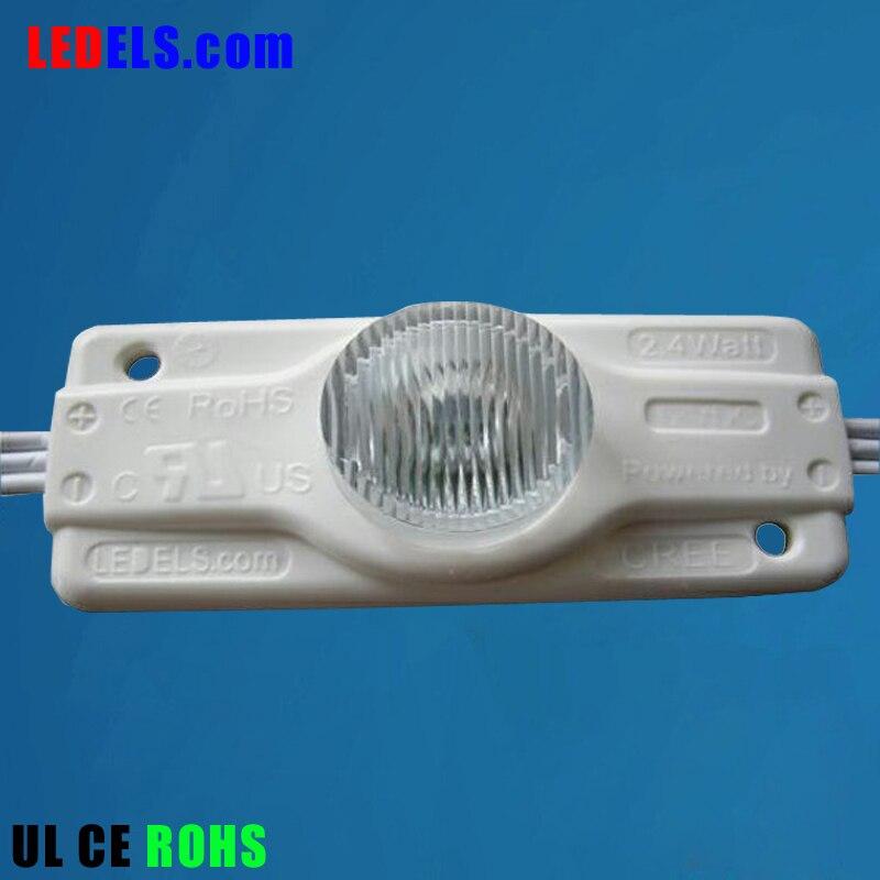 5 años de garantía, 2,4 w módulo led 200lm CREE-XPE 3W 3535 chip cree led módulo 12v UL listado iluminación led para signbox