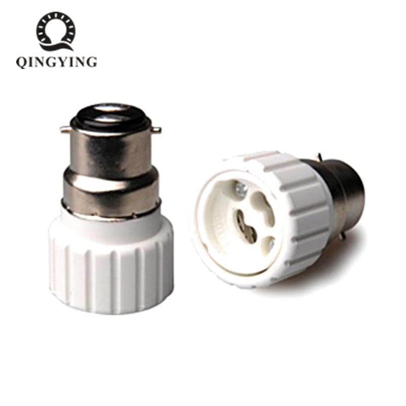 10 unids/lote B22-GU10 Ceram portalámparas convertidor bayoneta Socket B22 a GU10 Lamps Holder Luz de adaptador Bulb Plug Extender