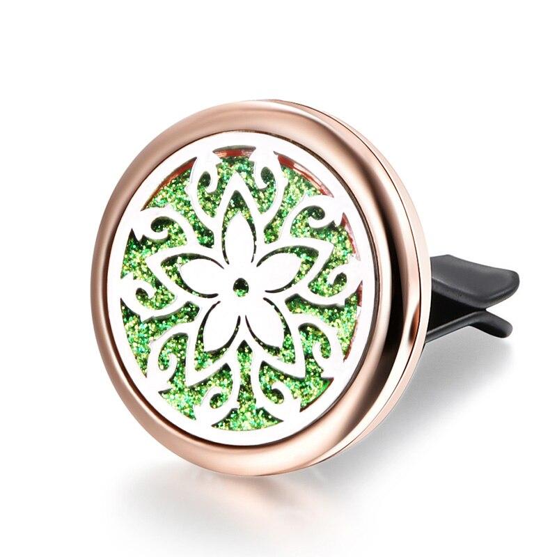 Beautiful Stars Air Diffuser Car Clip Perfume Diffuser Stainless Steel Vent Freshener Car Air Aroma