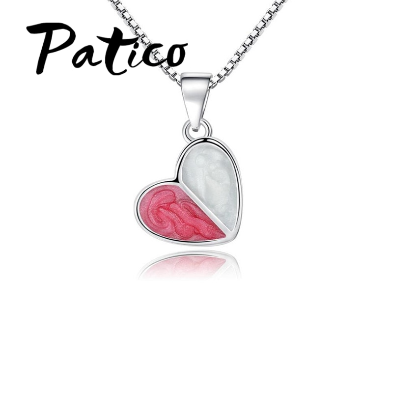 High Quality Heart Pendant Necklaces For Women 925 Sterling Silver  Wedding Jewelry Accessory Long Wholesale