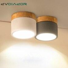 Luz descendente LED regulable 5W 12W montada en superficie luz led empotrable de Techo Luz led de hierro nórdico para vestíbulo, sala de estar