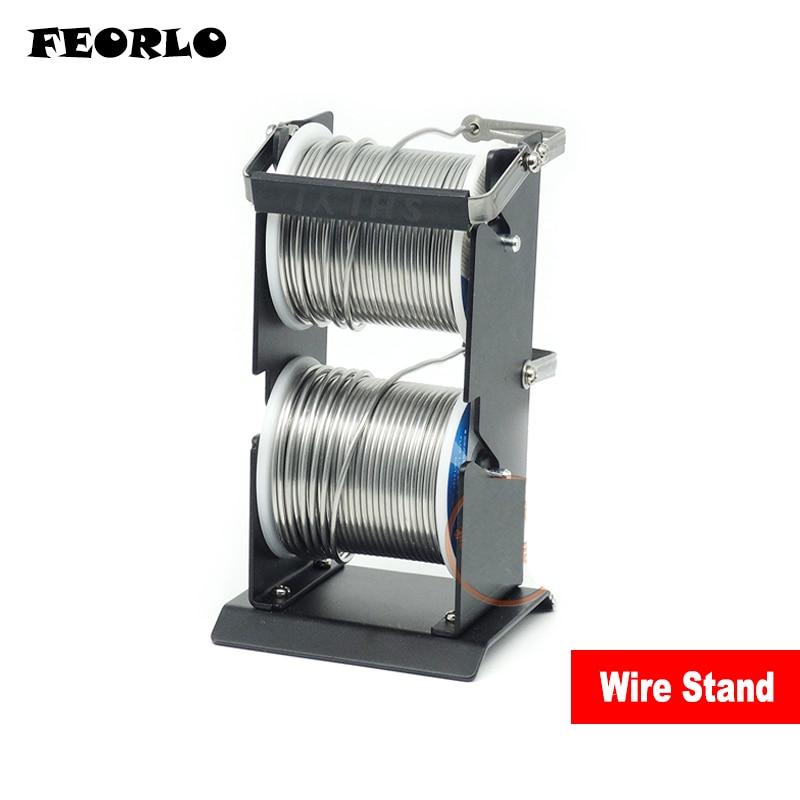 Оловянная подставка для припоя FEORLO, SY-227-2 подставка для оловянной проволоки, полностью металлическая подставка для проволочный кронштейн, н...