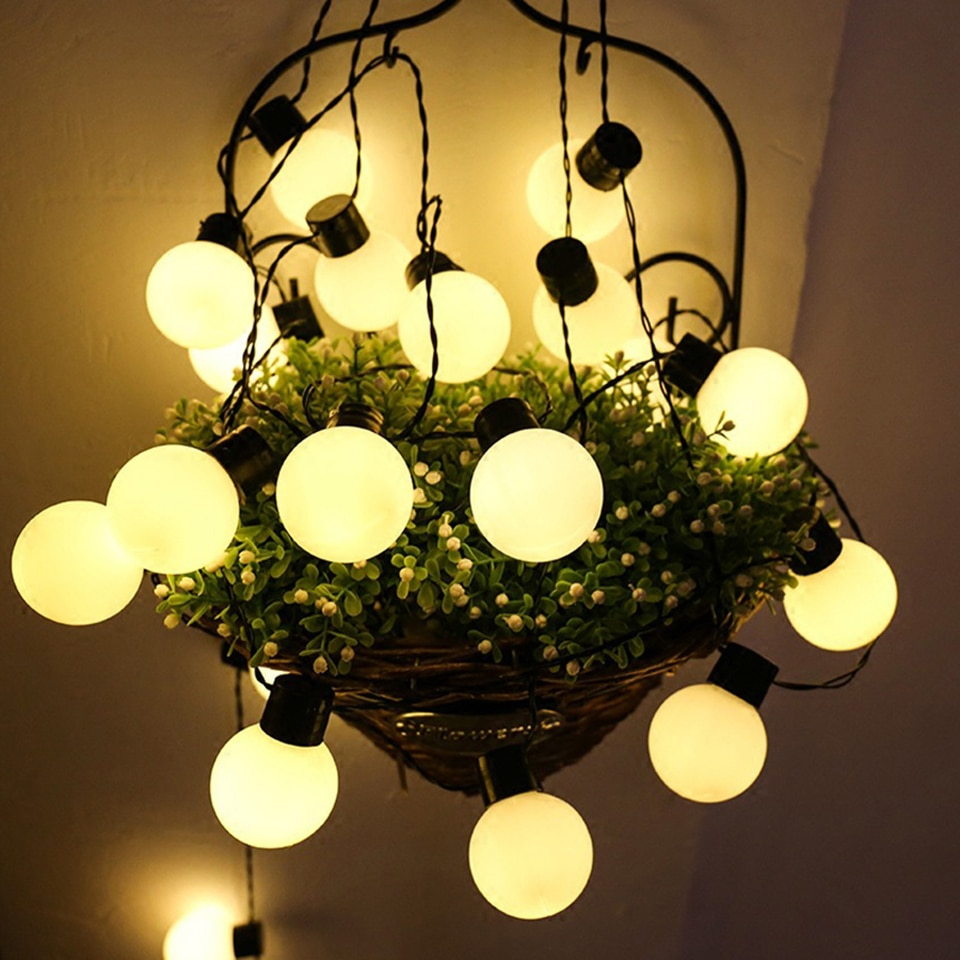 6M 20 LEDs Luz Da Corda Impermeável Ao Ar Livre Luzes De Fadas Bola Guirlanda Lâmpadas Do Pátio Do Jardim Do Casamento Do Natal Luz Decoração Cadeia