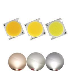 Allcob fabricante 25x25mm alta lumen squre flip chip led cob tira módulo fonte de luz 20 w 30 w cob lâmpada para downlight