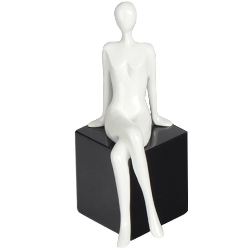 Mujer postura de sentado resina adornos Multi-función hogar sala de oficina escritorio manualidades adornos regalos de cumpleaños
