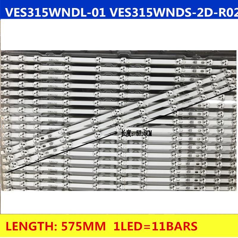 2 uds. De retroiluminación LED para TV de 32 NDV REV1.1 LC32LD145K VES315WNDL-01 VES315WNDS-2D-R02, chaleco de arbusto 32PFL3008H12