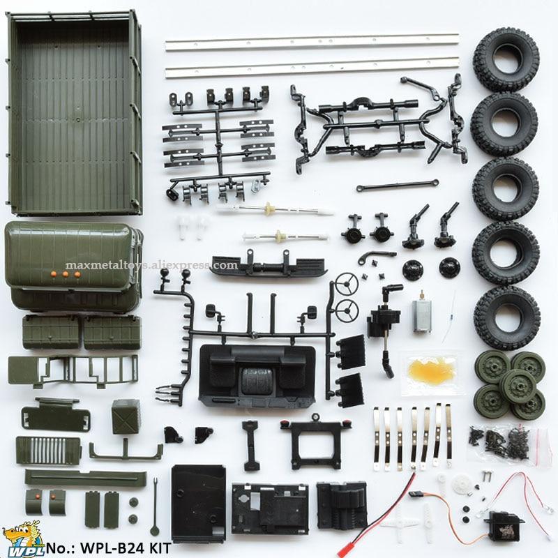 WPL B24 1:16 KIT DIY RC Lkw 4WD 2,4G Off-road Simulation Racing Auto Radio-Gesteuert Auto carrinho de controle
