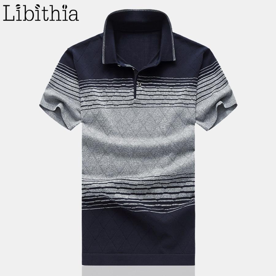 Nueva camisa Polo para hombre de talla grande M-6XL camisetas de manga corta nueva camisa Polo de verano para hombre ropa Casual 2017 gris rojo caqui G13