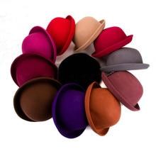 Lucky ylianji-chapeau en laine rétro   Femme, femme, dame en laine, feutre à bord pliable, Derby rond, haut-de forme, Cloche, casquette (une taille 57cm)