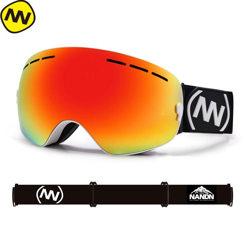 Фото - New NANDN brand ski goggles double UV400 anti-fog big ski mask glasses skiing men women snow snowboard goggles nandn ski goggles double layers uv400 anti fog big ski mask glasses skiing men women snow snowboard goggles ng5