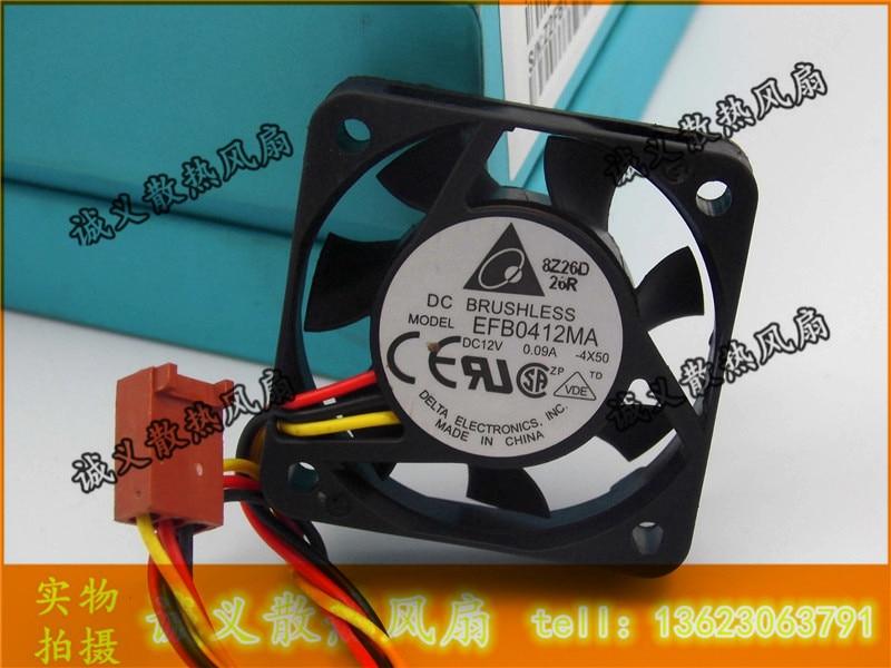 EFB0412MA Delta 4010 12V 0.09A 4CM Double ball bearing cooling fan 40X40X10MM