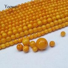 Yoowei Vieux Miel Jaune Huile De Poulet Perles Naturel 3MM--7MM Lâche Perles Diy Bracelet/Collier 100% Véritable Perles-Flottant saumure