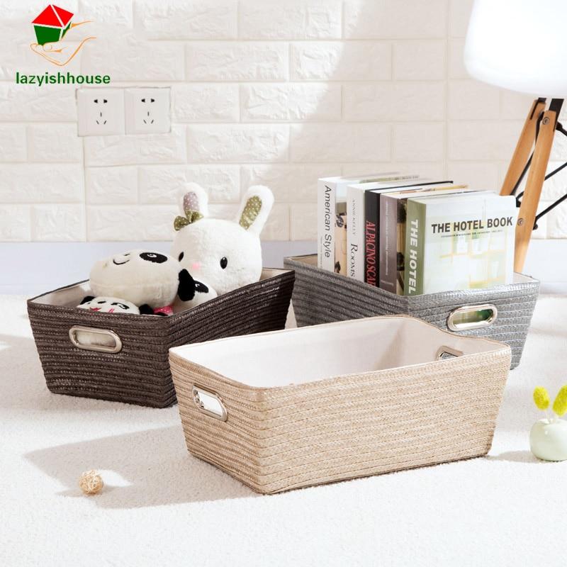 Vida Simple escritorio artículos diversos lápiz organizador cesta de almacenamiento contenedor retro cesta de almacenamiento caja de plástico caja de almacenamiento 63023