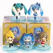 Vocaloid Hatsune Miku Snow Miku Kagamine Ren Meiko PVC figurines pendentifs jouets 5 pièces/ensemble