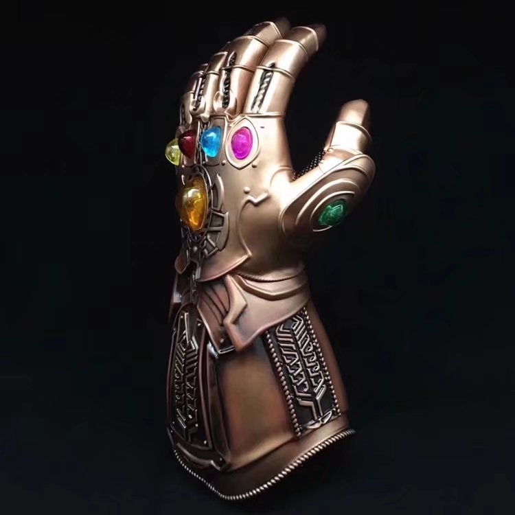 1 unidad, película vengadores Infinity War, Thanos de guantelete, accesorio de Cosplay, guante de Thanos de lujo 11, accesorio de Halloween para adultos