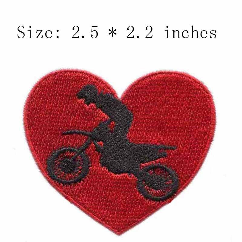 Parche bordado ancho de 2,5 pulgadas para motocicleta, parches deportivos, parches educativos, parches escolares