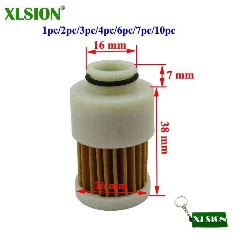XLSION 1 шт./2 шт./3 шт./4 шт./6 шт./7 шт./10 шт. топливный фильтр для Yamaha Mercury 4 тактный