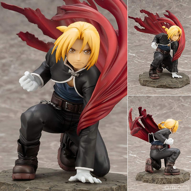 Fullmetal Alchemist Edward Elric Action Figure Doll Toys 22cm
