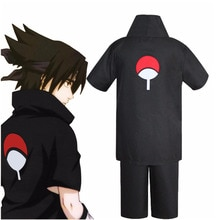 JP Anime Naruto Uchiha Sasuke 2nd génération Cosplay Costume ensemble complet noir uniforme Halloween carnaval fête Costumes perruque