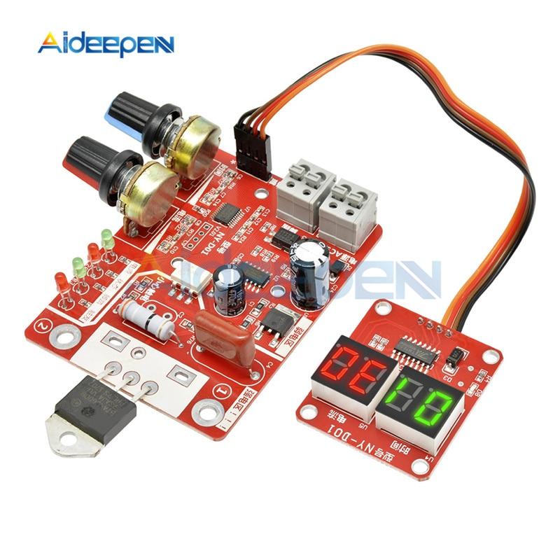 40A/100A Spot Welding Machine Control Board Welder AC 110V 220V to 9V Transformer Controller Board Timing Current Time Current