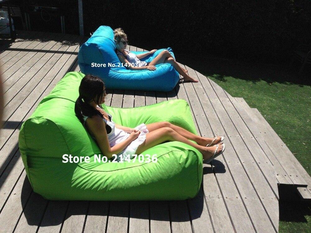 Swimline Sunsoft Chaise Lima y aqua azul grande PUF gigante silla
