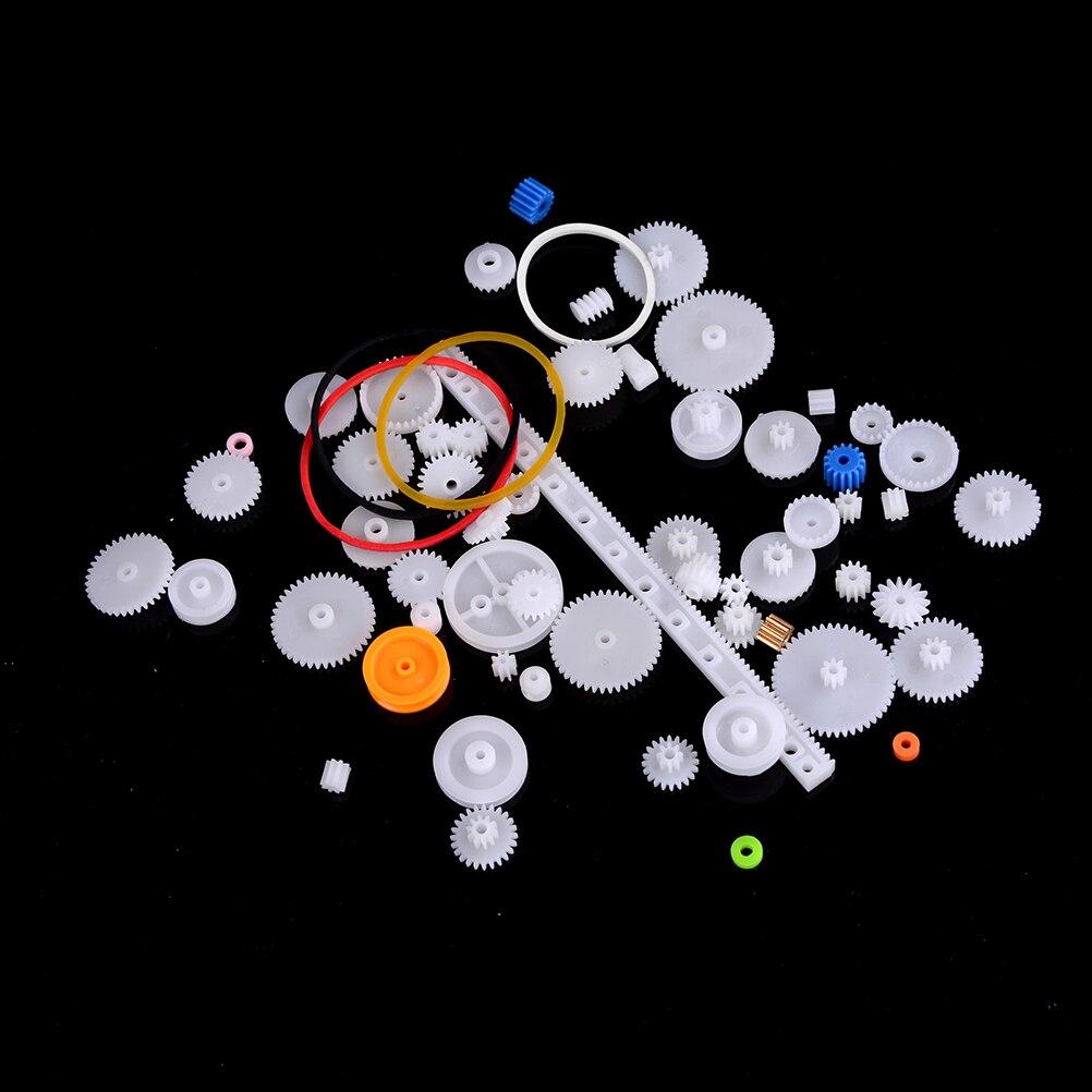 60 шт./лот K012b набор пластиковых зубчатых передач DIY шкив ремня червячного одиночного двойного зубчатого колеса продажа в убыток США Беларусь...