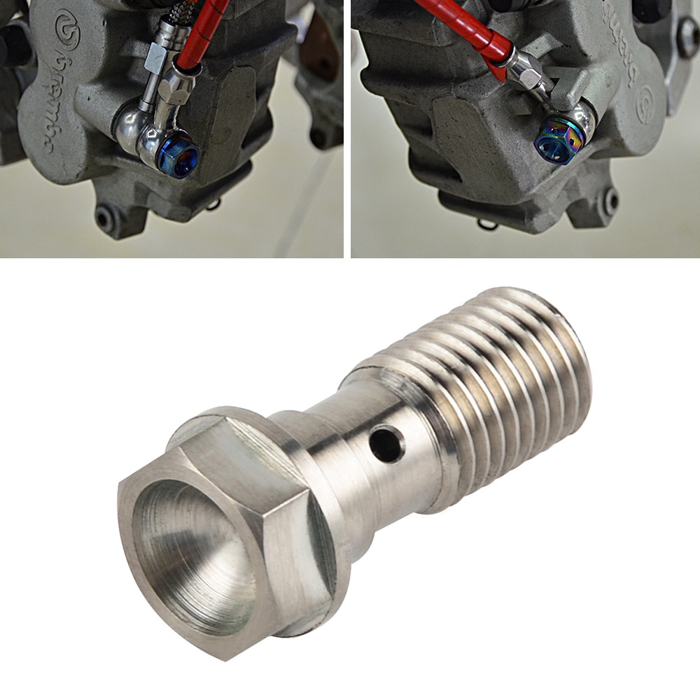 M10 x 1.25 Pitch Single Banjo Bolt Screw For Brembo Brake Hose Line Master Cylinder For Honda CBR Kawasaki Yamaha Suzuki 600 750