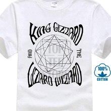 Roi gésier et le sorcier lézard t-shirt psychédélique Rock Oz groupe de musique