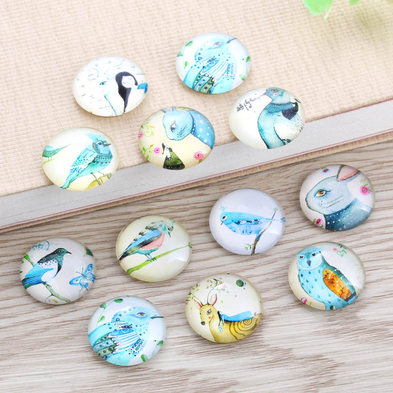 TYLFNL 12mm 25mm Handmade Photo Glass Cabochons Animals Pattern Domed Round Jewelry Accessories Supplies for Jewelry S-010410 2020 hot sale new fashion 5pcs lot 25mm handmade photo glass cabochons
